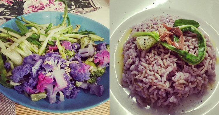 insalata di cavolfiore viola e riso