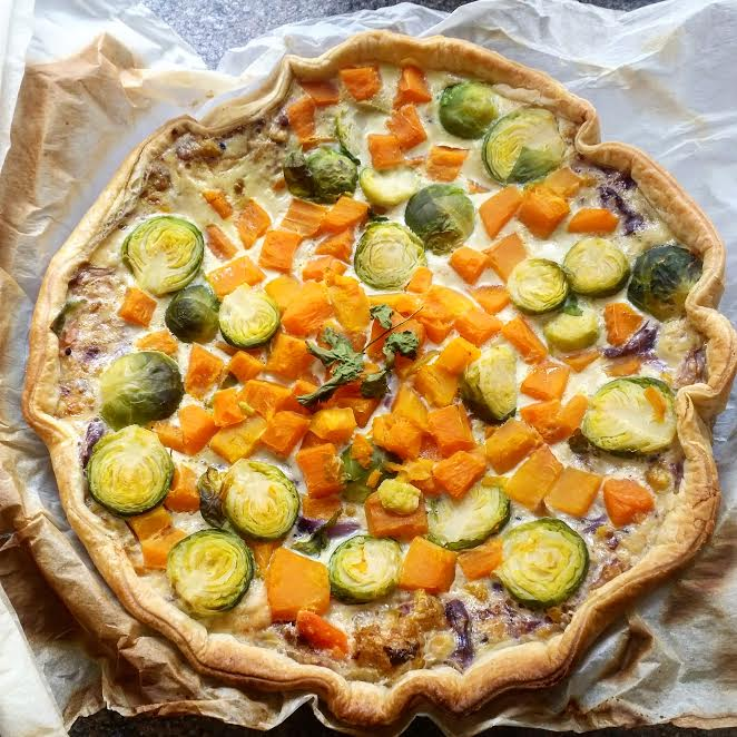 torta salata con verdure