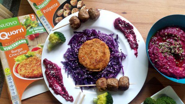 hamburger croccante quorn con fantasia di verdure
