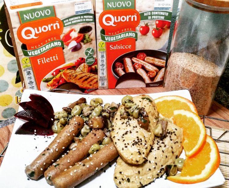 salsicce e filetti quorn
