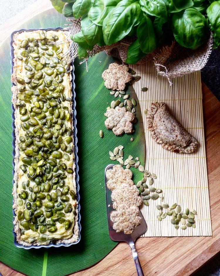 crostata rustica di fave con frolla integrale